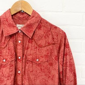 Levi's Western Pearl Snap Floral Button Down